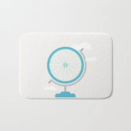 Bike Globe Bath Mat