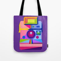 polaroid Tote Bags featuring Polaroid by MaNia Creations