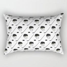 Hockey Equipment Pattern Rectangular Pillow