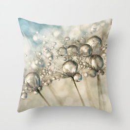 Sapphire & Silver Sparkle Throw Pillow