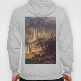 Cho Looke The Yosemite Fall 1864 By Albert Bierstadt | Reproduction Painting Hoody