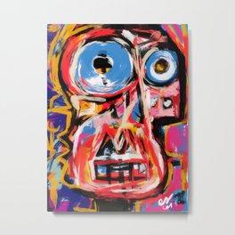 Art brut outsider underground graffiti portrait Metal Print