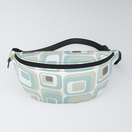 Retro Rectangles Mid Century Modern Geometric Vintage Style Fanny Pack