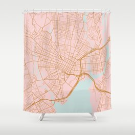 New Haven map, Connecticut Shower Curtain