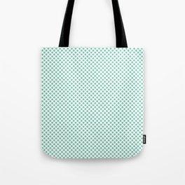Lucite Green Polka Dots Tote Bag