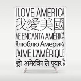 I Love America - Single Color Shower Curtain