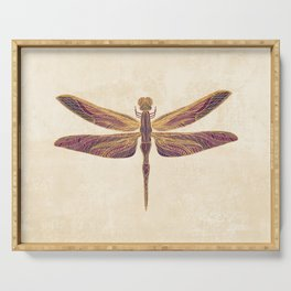 Art Nouveau Dragonfly In Purple Serving Tray