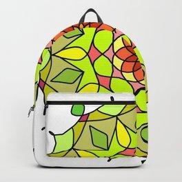 Pretty teal turquoise floral mandala Backpack