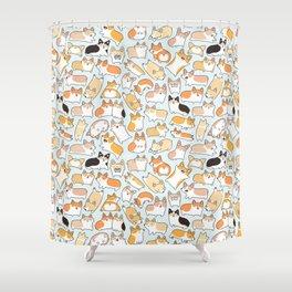 Corgilicious Corgi Doodle Shower Curtain