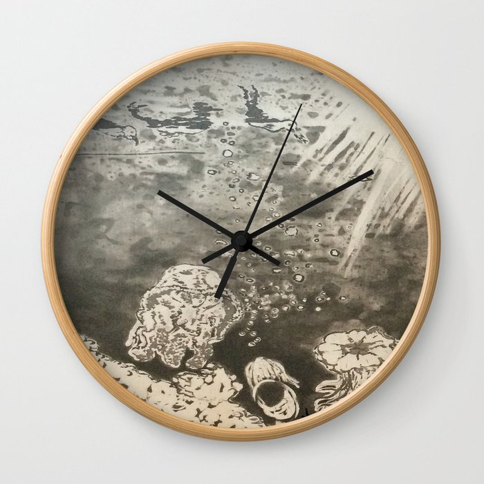 MoonSea EcoSystem Black and White Wall Clock