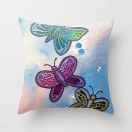 Butteflies Throw Pillow