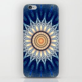 Mandala blue created by Tutti iPhone Skin
