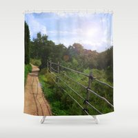 korea Shower Curtains featuring Spring at Bukhansan, Korea by Clayton Jones