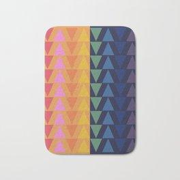 Day and Night Rainbow Triangles Bath Mat