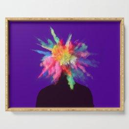 Colour Burst Head Imagination Colour Creativity Serving Tray