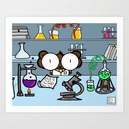 Science Bear Art Print