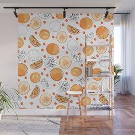 Orange You Glad Seamless Pattern Wall Mural
