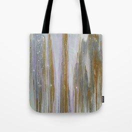 Gold and Silver Deluge Tote Bag