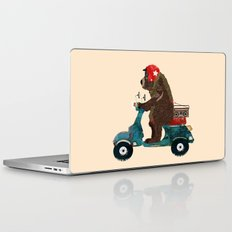 scooter bear Laptop & iPad Skin