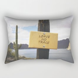 Leave No Trace Rectangular Pillow