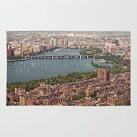 boston Area & Throw Rugs featuring boston by shannonblue