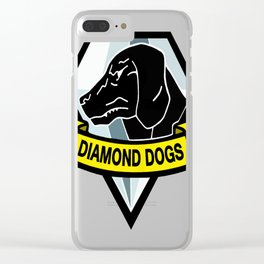 Diamond Dogs MGS copy Clear iPhone Case