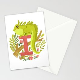I is for Iguana Stationery Cards