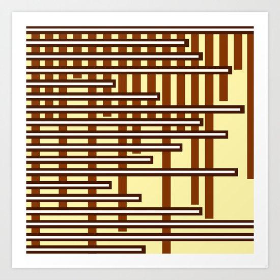 Chocolate Bars Art Print