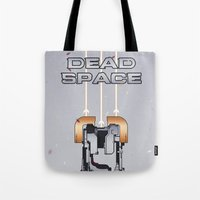 dead space Tote Bags featuring Dead Space by Spiritius