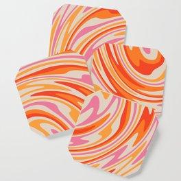 70s Retro Swirl Color Abstract Coaster