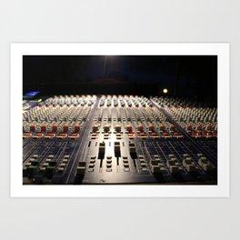 Nighttime Soundboard Photo Art Print