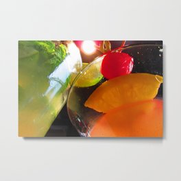 Cocktails I Metal Print