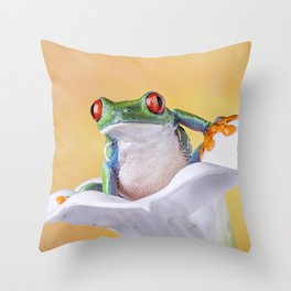Are You Sitting Comfortably? Throw Pillow