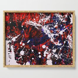 Work Excess Abstract Serving Tray