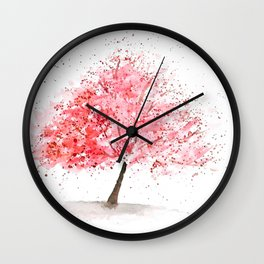 Kwanzan Cherry Tree Wall Clock