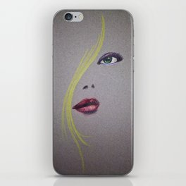 Blond Nose Eyes Lips iPhone Skin
