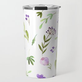 Purple Flower Field Travel Mug