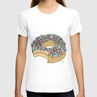 doughnut T-shirts featuring Doughnut by Amber Lily Fryer