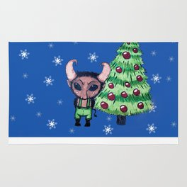 Krampus the Christmas Devil Rug