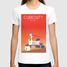 Curiosity Rover on mars. T-shirt