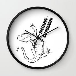 this salamander is excellent Wall Clock
