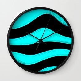 Hot Wavy C Wall Clock