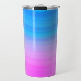 Pink & Blue Circles Travel Mug