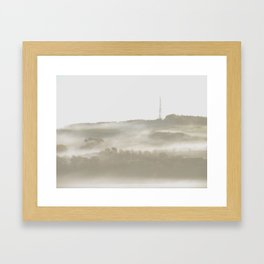 Smokey Trees Framed Art Print