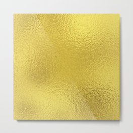 Simply Metallic in Yellow Gold Metal Print