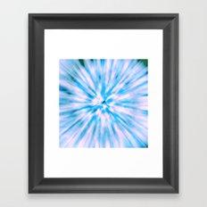 TIE DYE - LIGHT BLUE Framed Art Print
