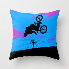 Sky Trekking - BMX Rider Throw Pillow