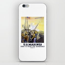 US Marines -- First To Fight For Democracy iPhone Skin