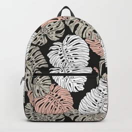 Monstera in the darkness of the jungle Backpack
