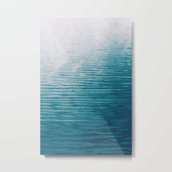 Lake Abstract Metal Print